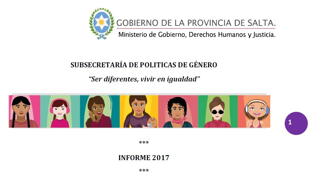 Informe Anual 2017 Subsecretaría de Política..