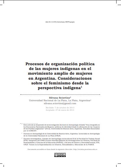 Procesos de organización política de las muj..