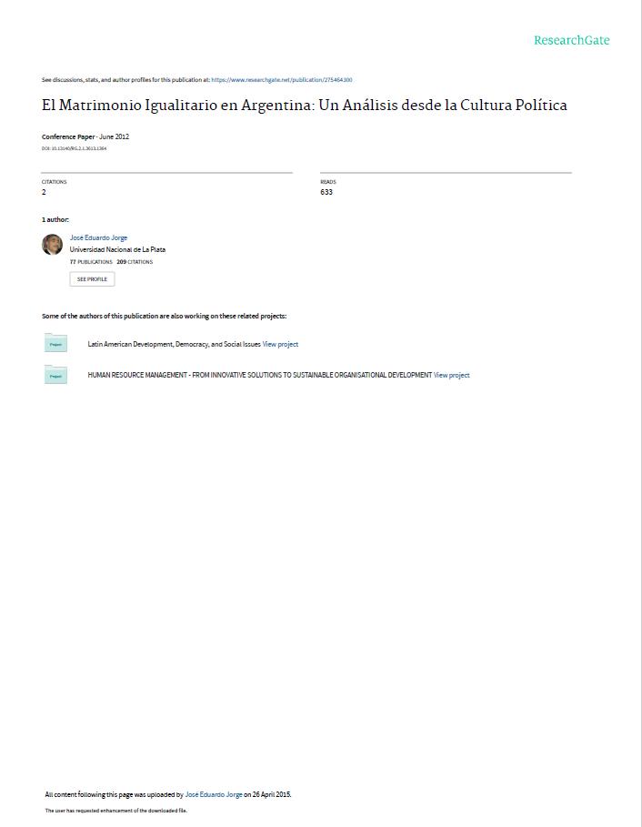 El Matrimonio Igualitario en Argentina: Un An�..