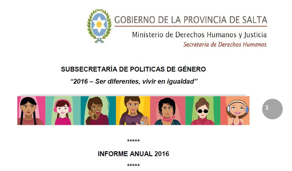Informe Anual 2016 Subsecretaría de Política..