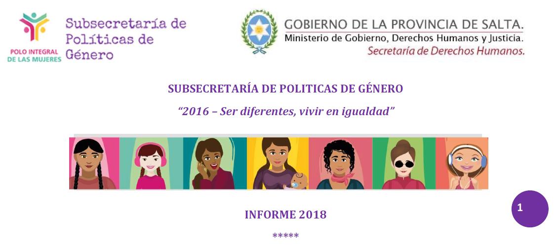 Informe Anual 2018 Subsecretaría de Política..