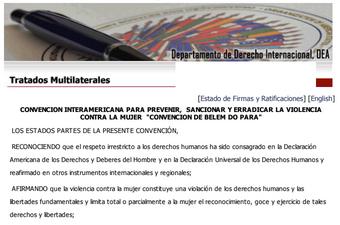 Convención Interamericana para Prevenir, Sanc..