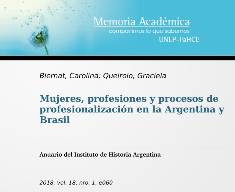 Mujeres, profesiones y procesos de profesional..