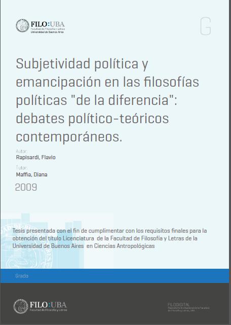 Subjetividad política y emancipación en las ..