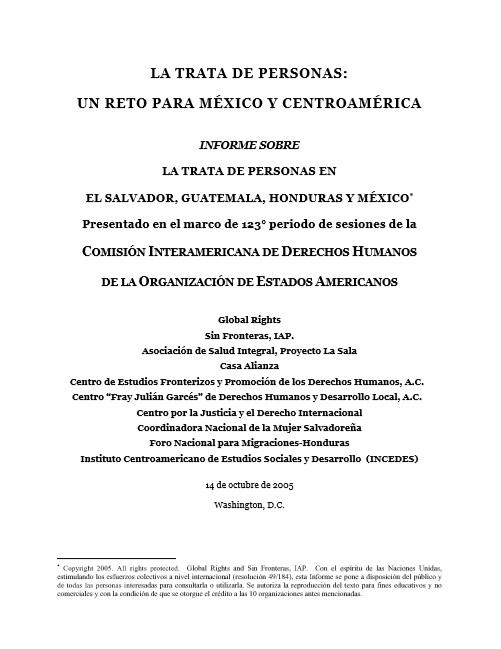 La trata de personas: un reto para México y C..