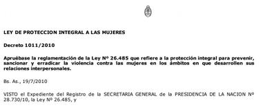 Dec. 1011/2010 Reglamentación de la Ley Nº 2..