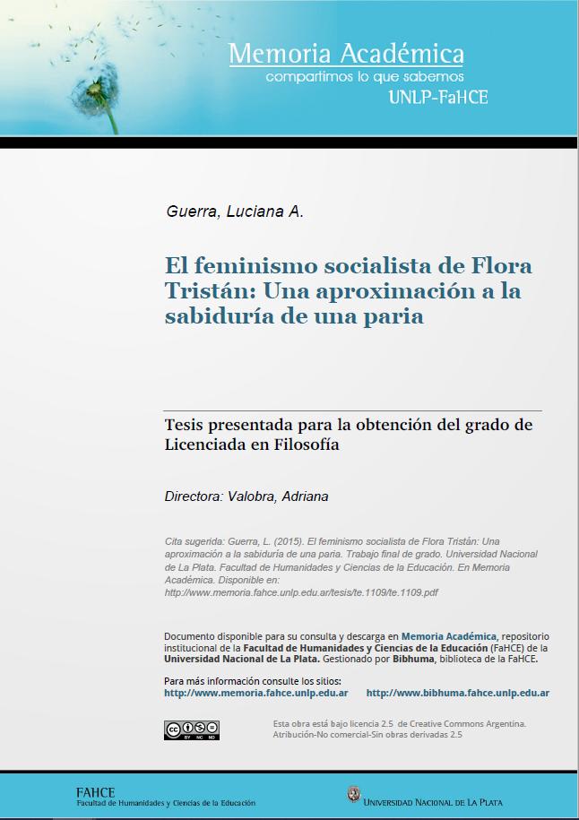 El feminismo socialista de Flora Tristán: Una..