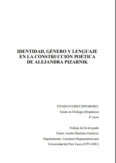 IDENTIDAD, GÉNERO Y LENGUAJE EN LA CONSTRUCCI..