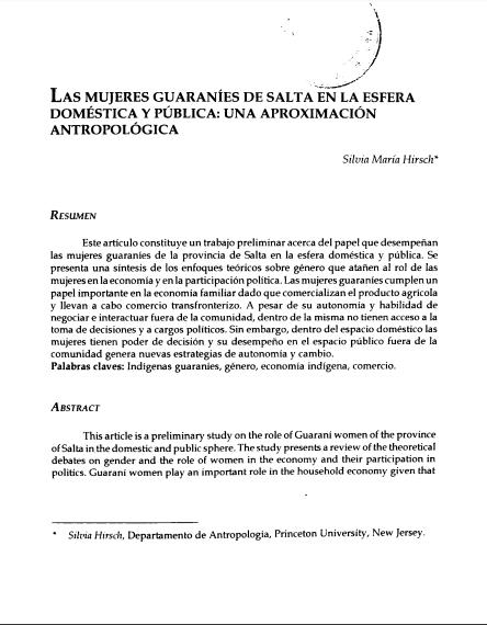 Las mujeres guaraníes de Salta en la esfera d..