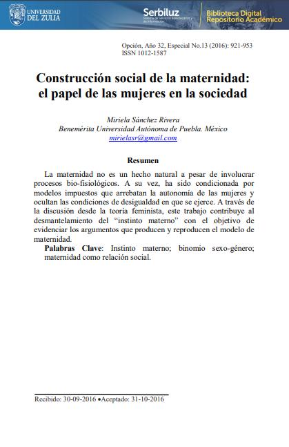 Construcción social de la maternidad: el pape..