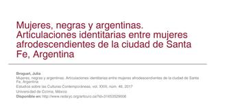Mujeres, negras y argentinas. Articulaciones i..