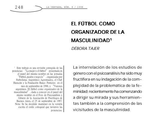 El fútbol como organizador de la masculinidad