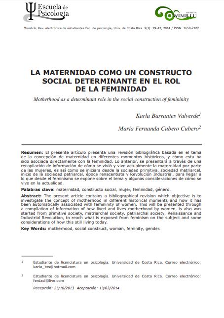 La maternidad como un constructo social determ..