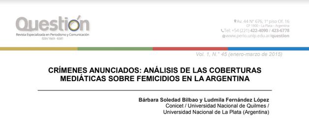Crímenes anunciados: análisis de las cobertu..