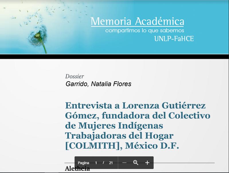 Entrevista a Lorenza Gutiérrez Gómez, fundad..