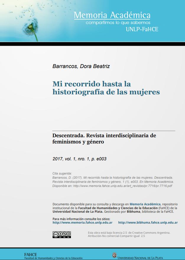 Mi recorrido hasta la historiografía de las m..